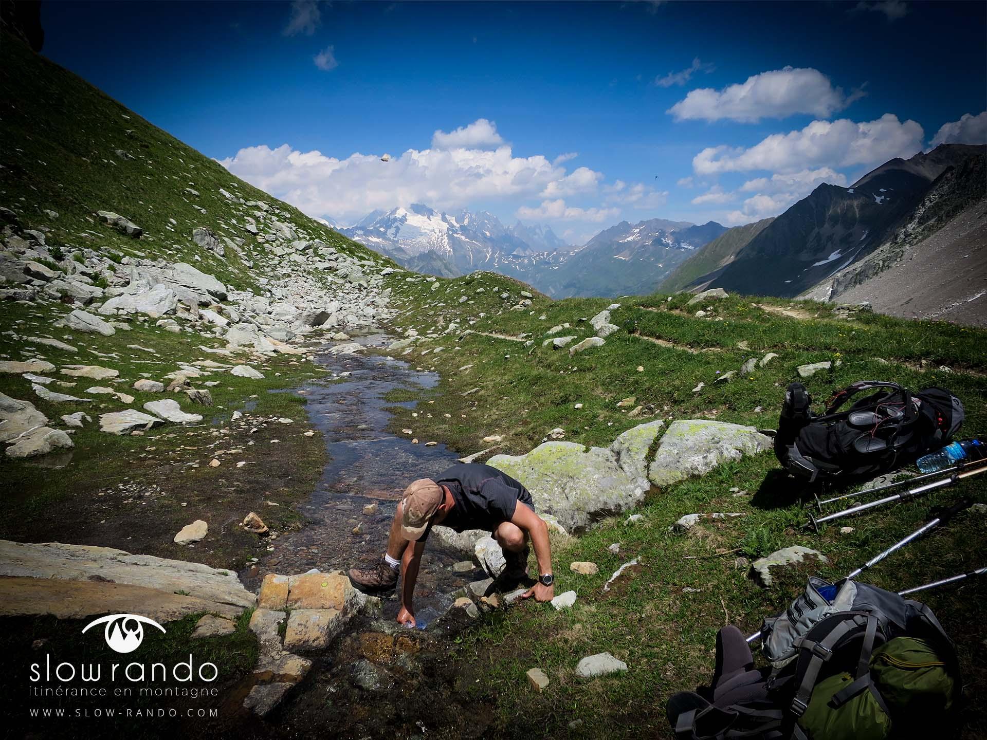 Beaufortain Tour Itinerance Trek Bivouac Combe Neuva Riviere Slow Rando