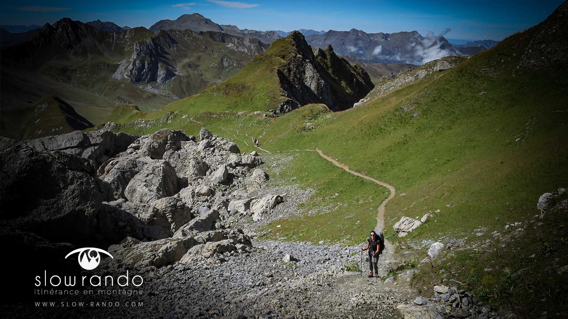 Beaufortain Tour Itinerance Trek Bivouac Sentier Pierrier Slow Rando