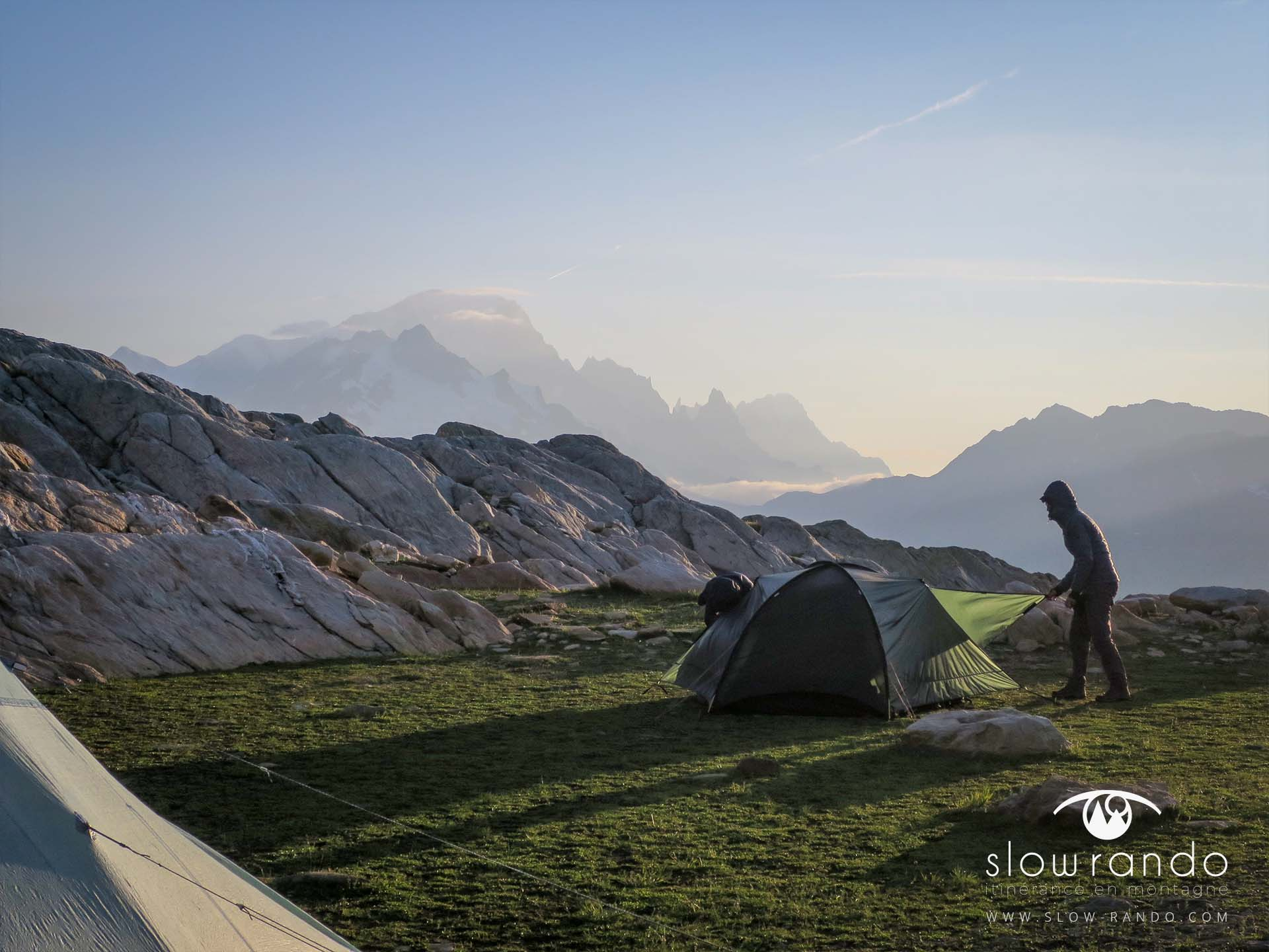 Beaufortain Tour Itinerance Trek Bivouac Demontage Tente Slow Rando