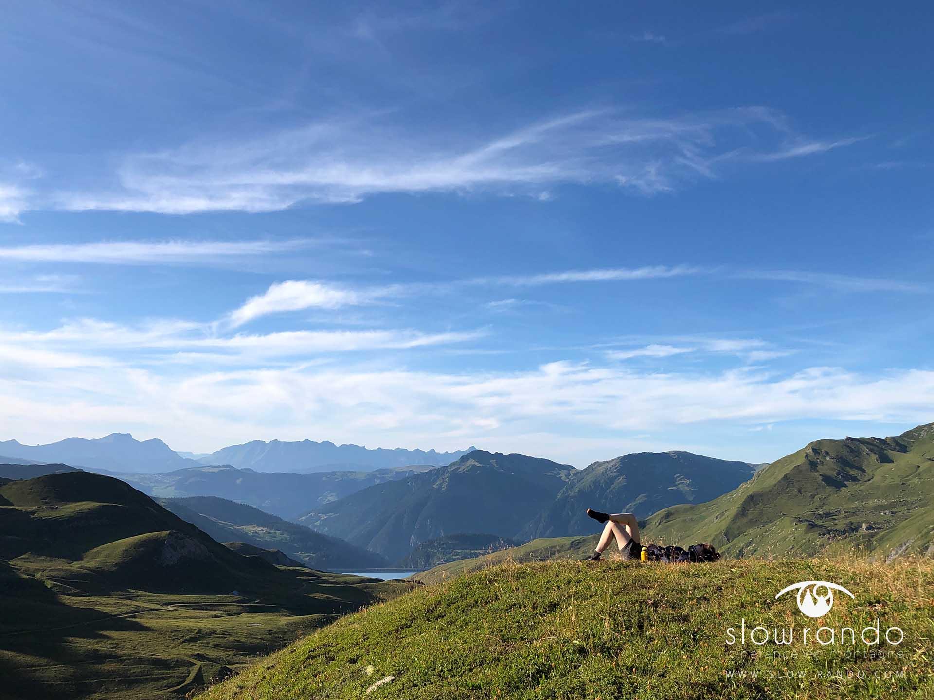 Beaufortain Tour Itinerance Trek Bivouac La Pause Slow Rando