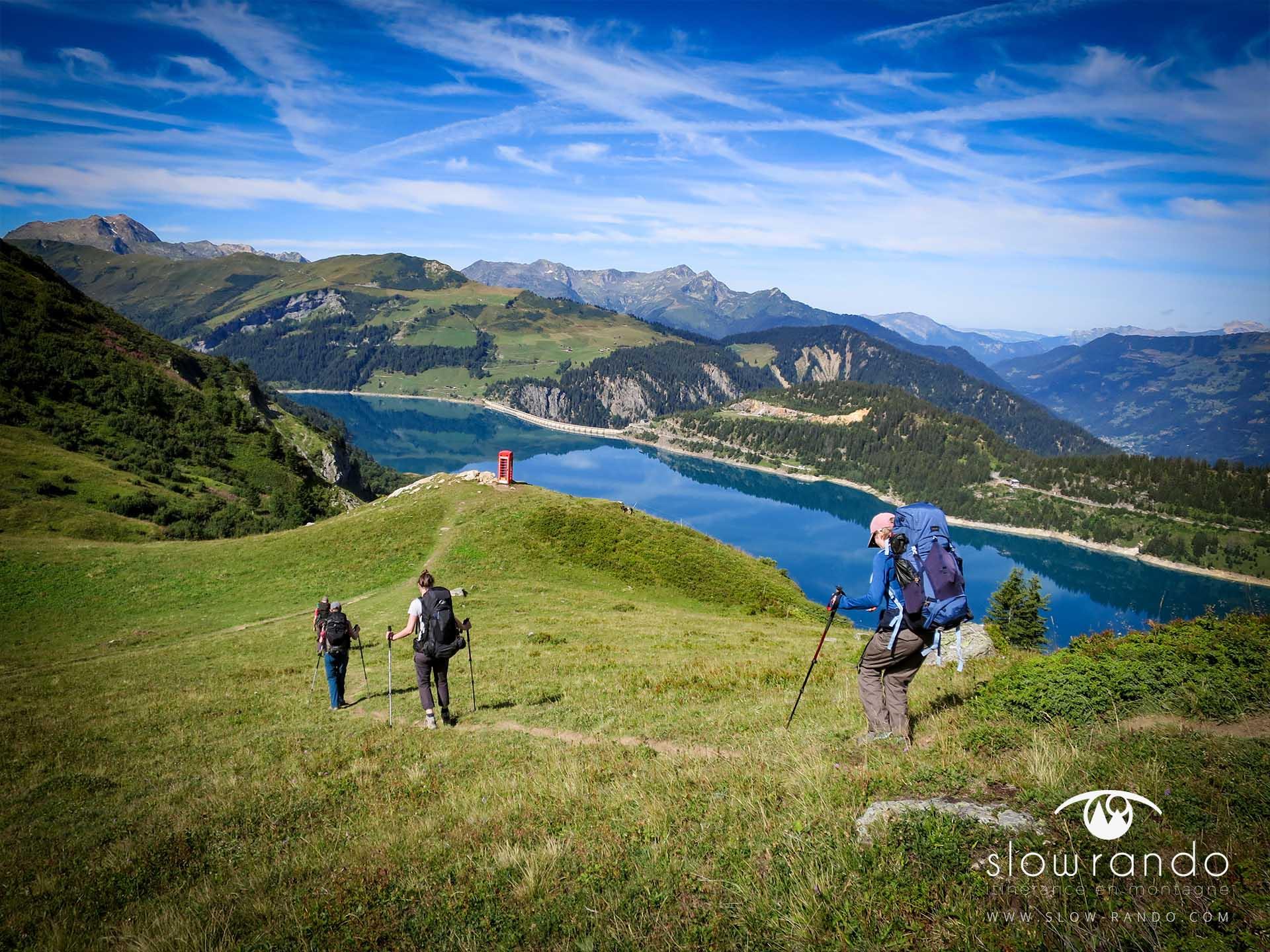 Beaufortain Tour Itinerance Trek Bivouac Lac Roselend Barrage Slow Rando