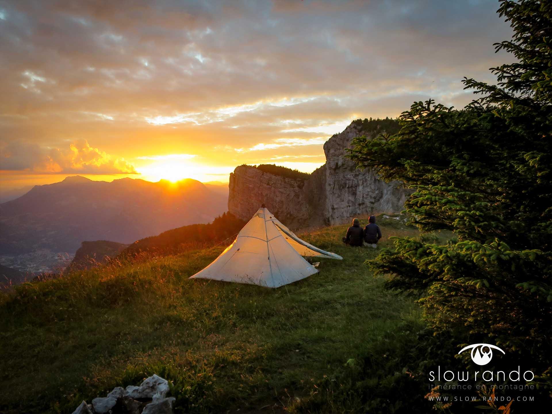 Stage Formation Itinerance Montagne Bivouac Coucher Soleil Vercors N1 Slow Rando