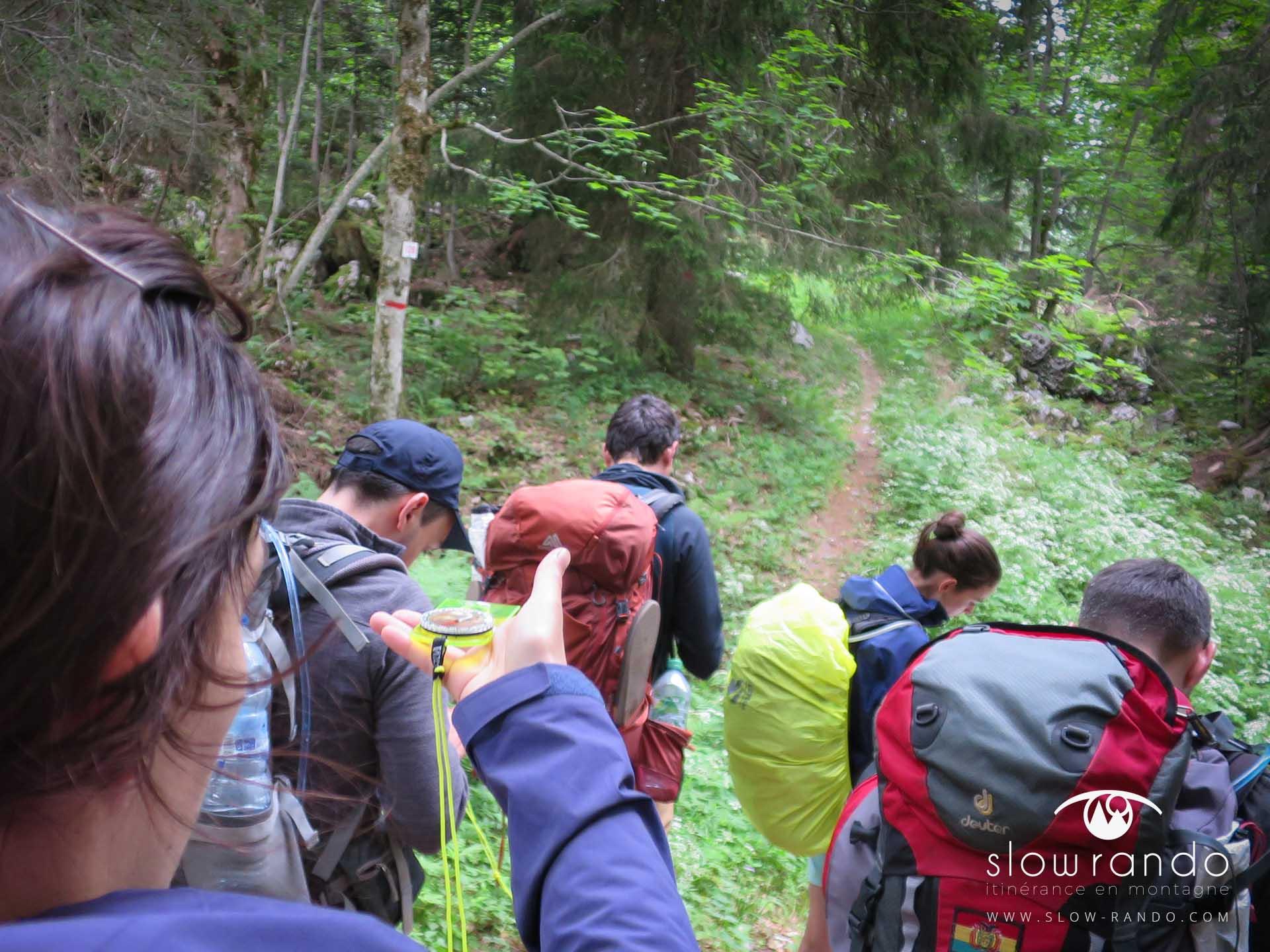 Stage Formation Itinerance Montagne Bivouac Orientation Boussole Azimut Vercors N1 Slow Rando