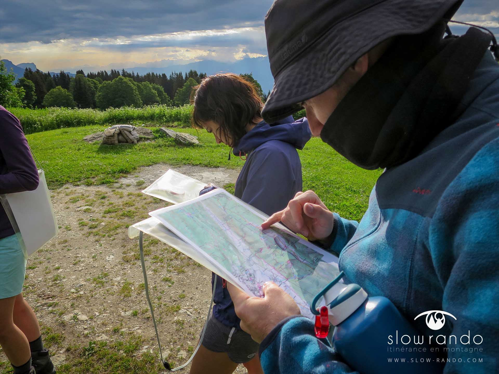 Stage Formation Itinerance Montagne Bivouac Orientation Carte IGN TOP25 Vercors N1 Slow Rando