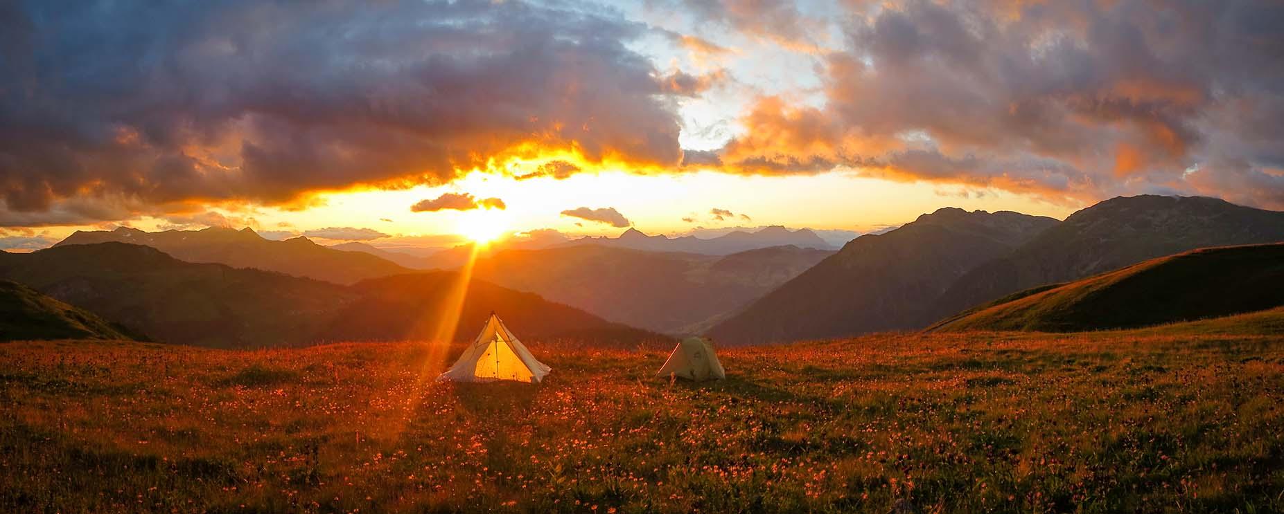 Sejour Liberte Itinerance Bivouac Slow Rando Beaufortain 2020 Sunset