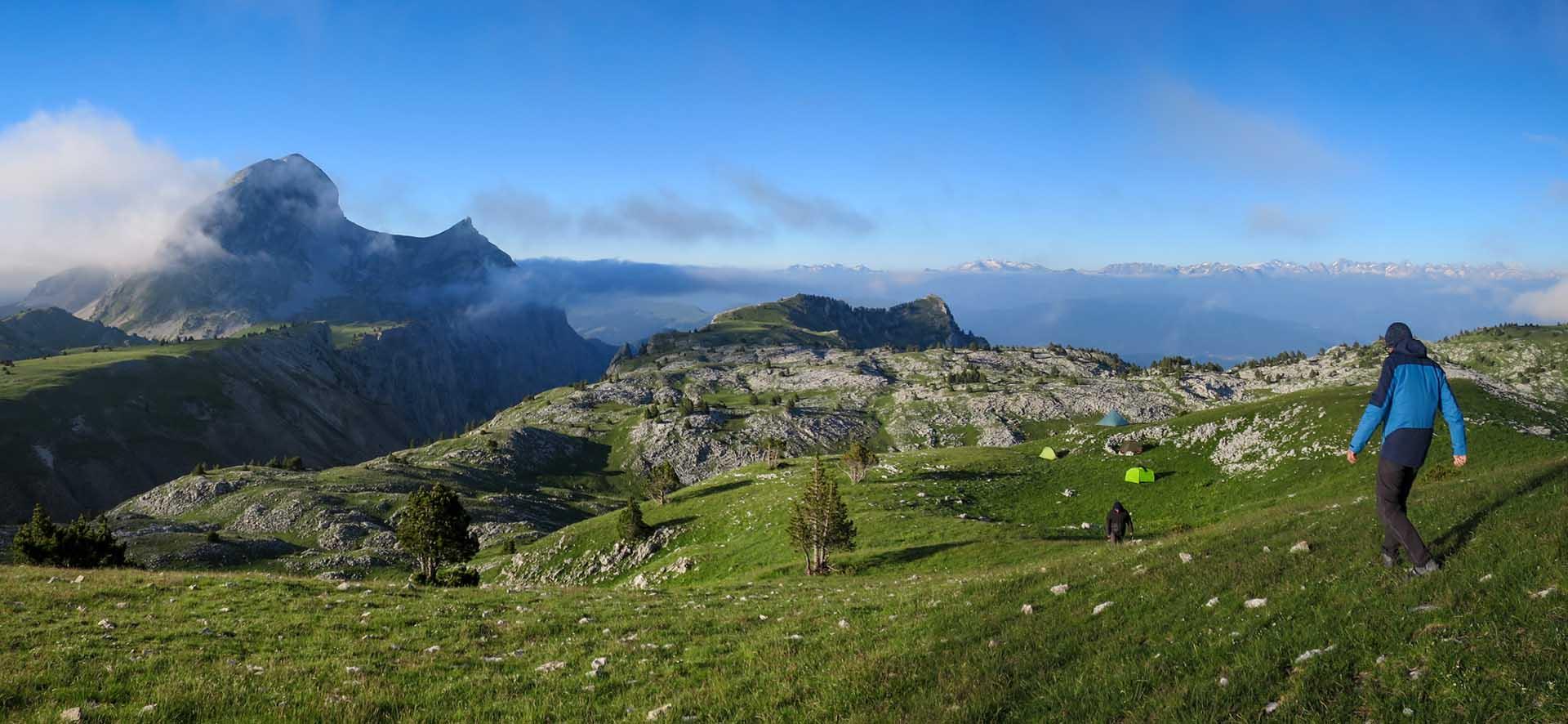 Bivouac Tente Tipi Grand Veymont Hauts Plateaux Vercors Itinerance Sejour Trek Tente Slow Rando