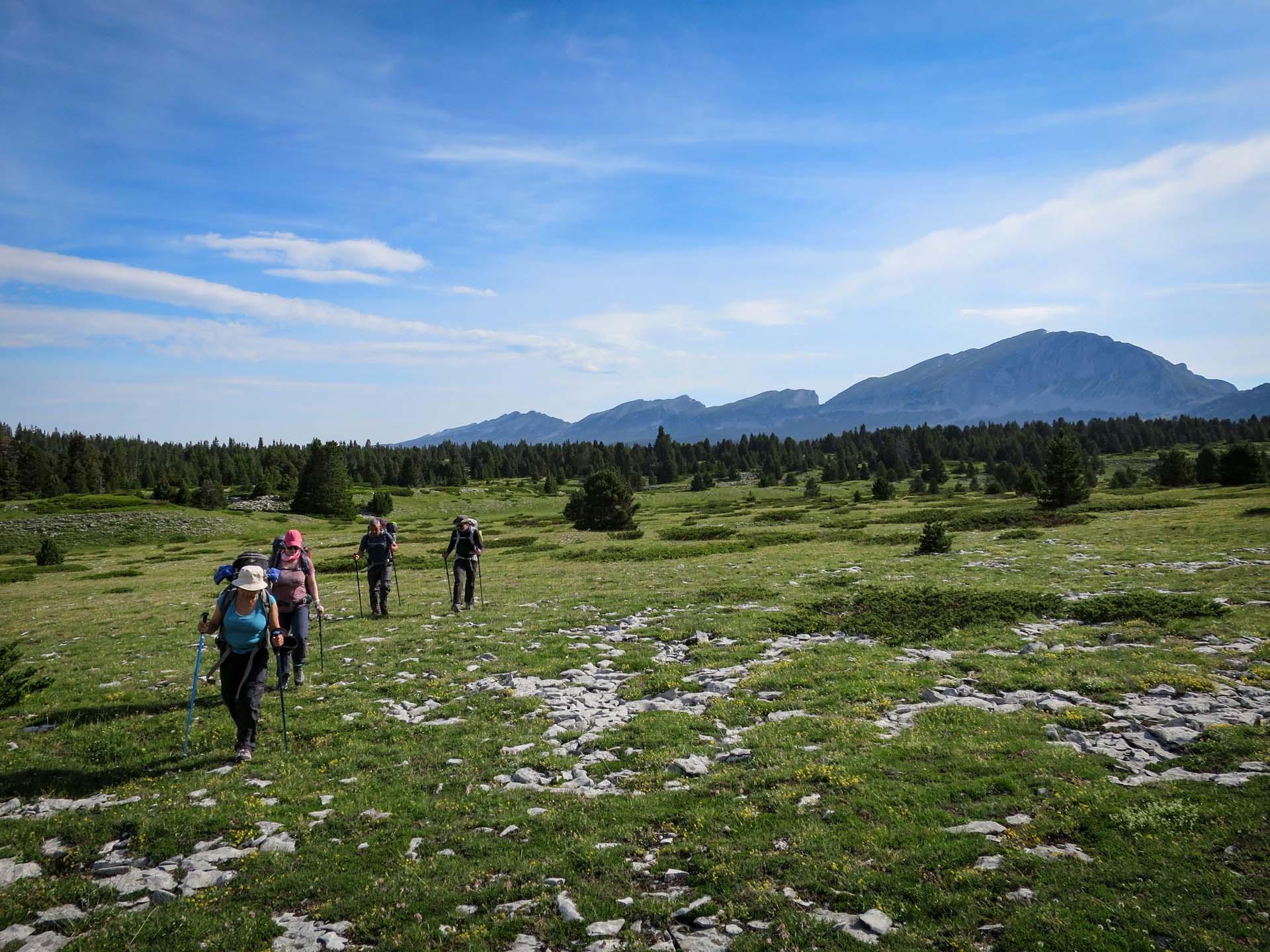 Hors Sentier Hauts Plateaux Vercors Itinerance Sejour Trek Tente Slow Rando
