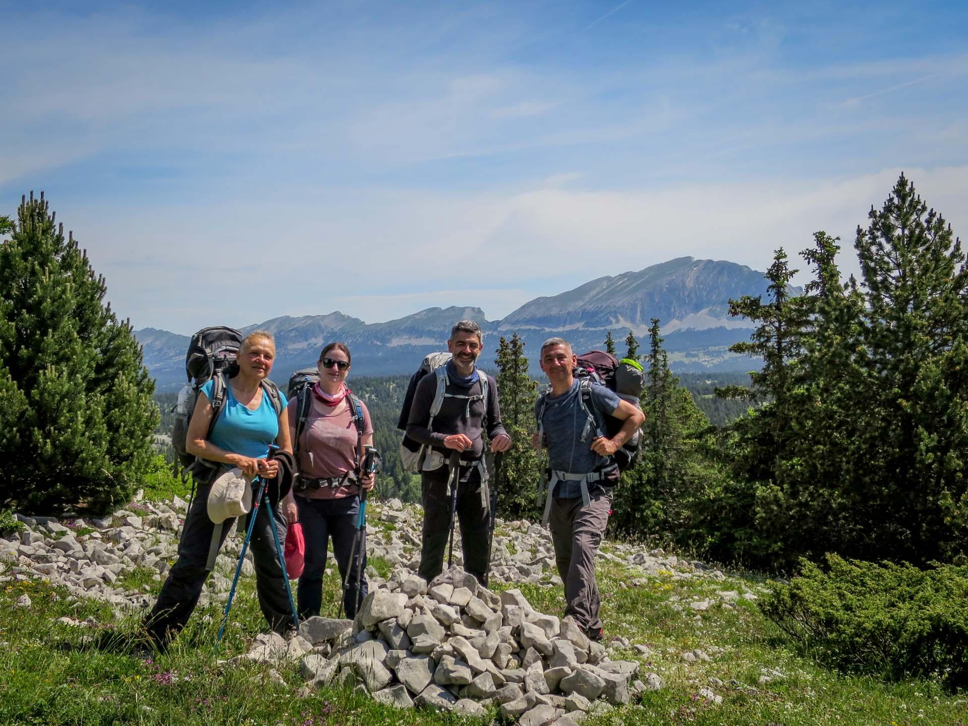 Photo Groupe Hauts Plateaux Vercors Itinerance Sejour Trek Tente Slow Rando