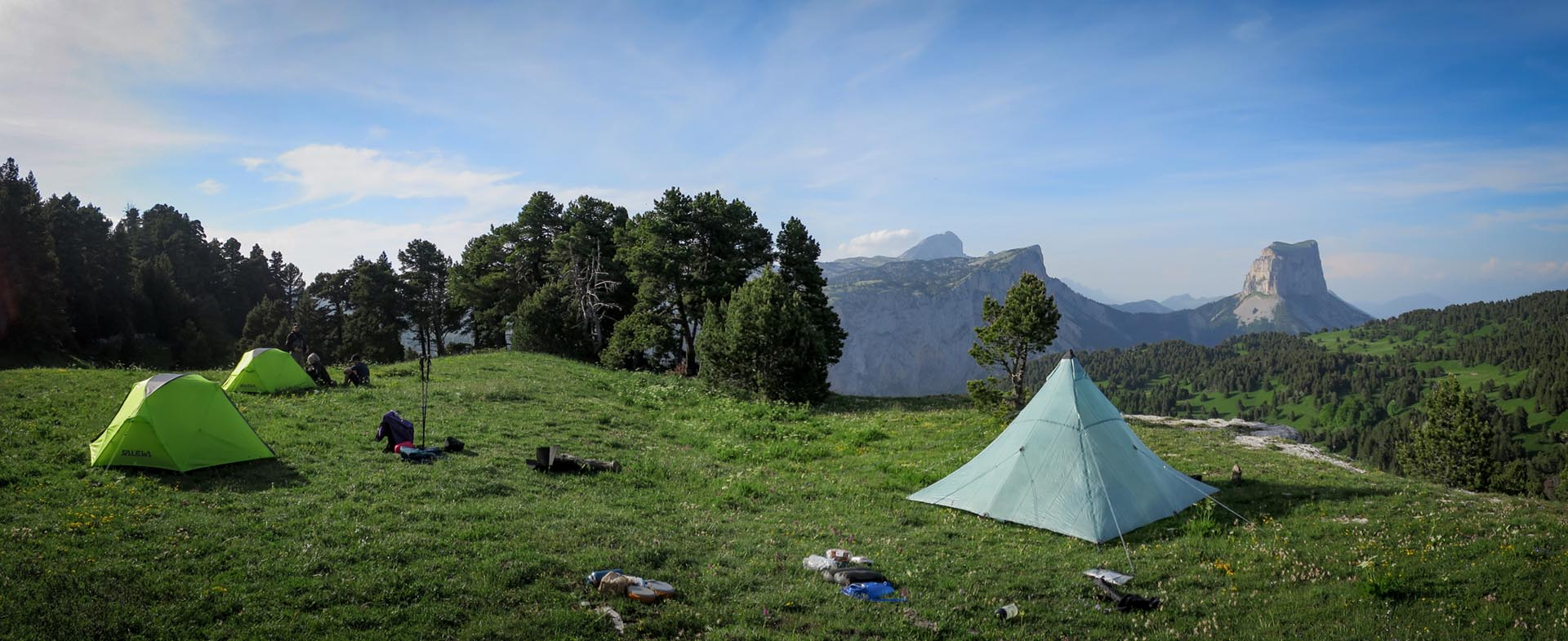 Slow Rando Reserve Hauts Plateaux Vercors Mont Aiguille Bivouac LE SPOT