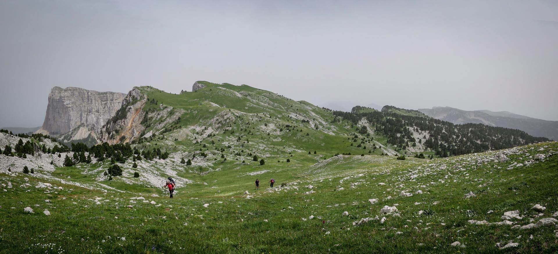 Slow Rando Reserve Hauts Plateaux Vercors Mont Aiguille Bivouac Pas De La Selle