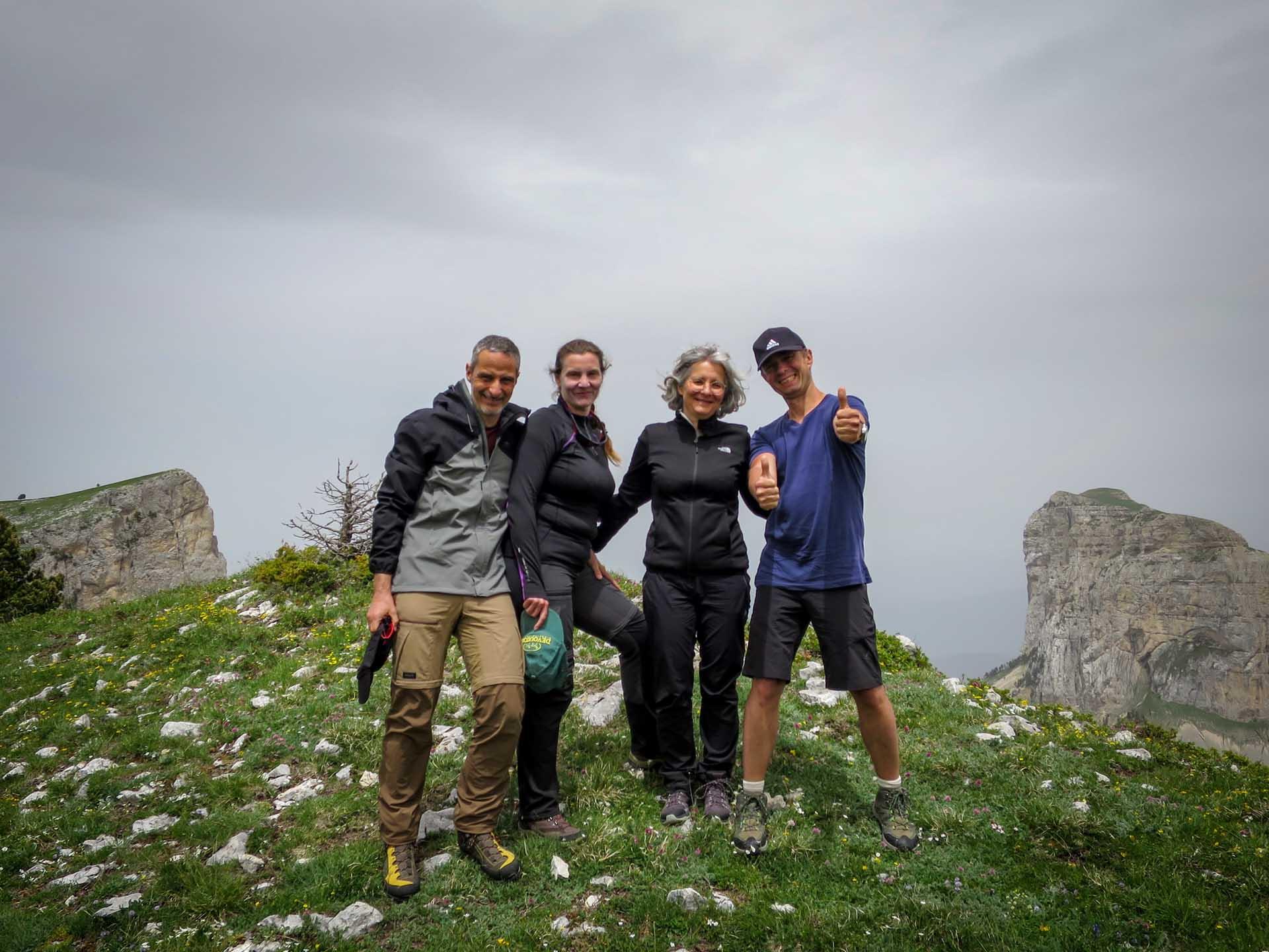 Slow Rando Reserve Hauts Plateaux Vercors Mont Aiguille Rochers Parquet Sommet