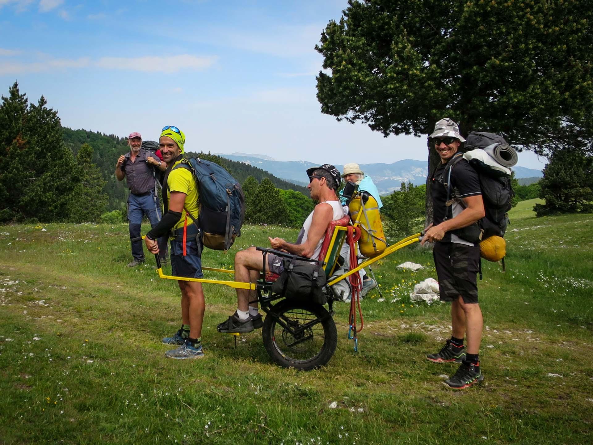 Slow Rando Reserve Hauts Plateaux Vercors Joelette Handicapevasion