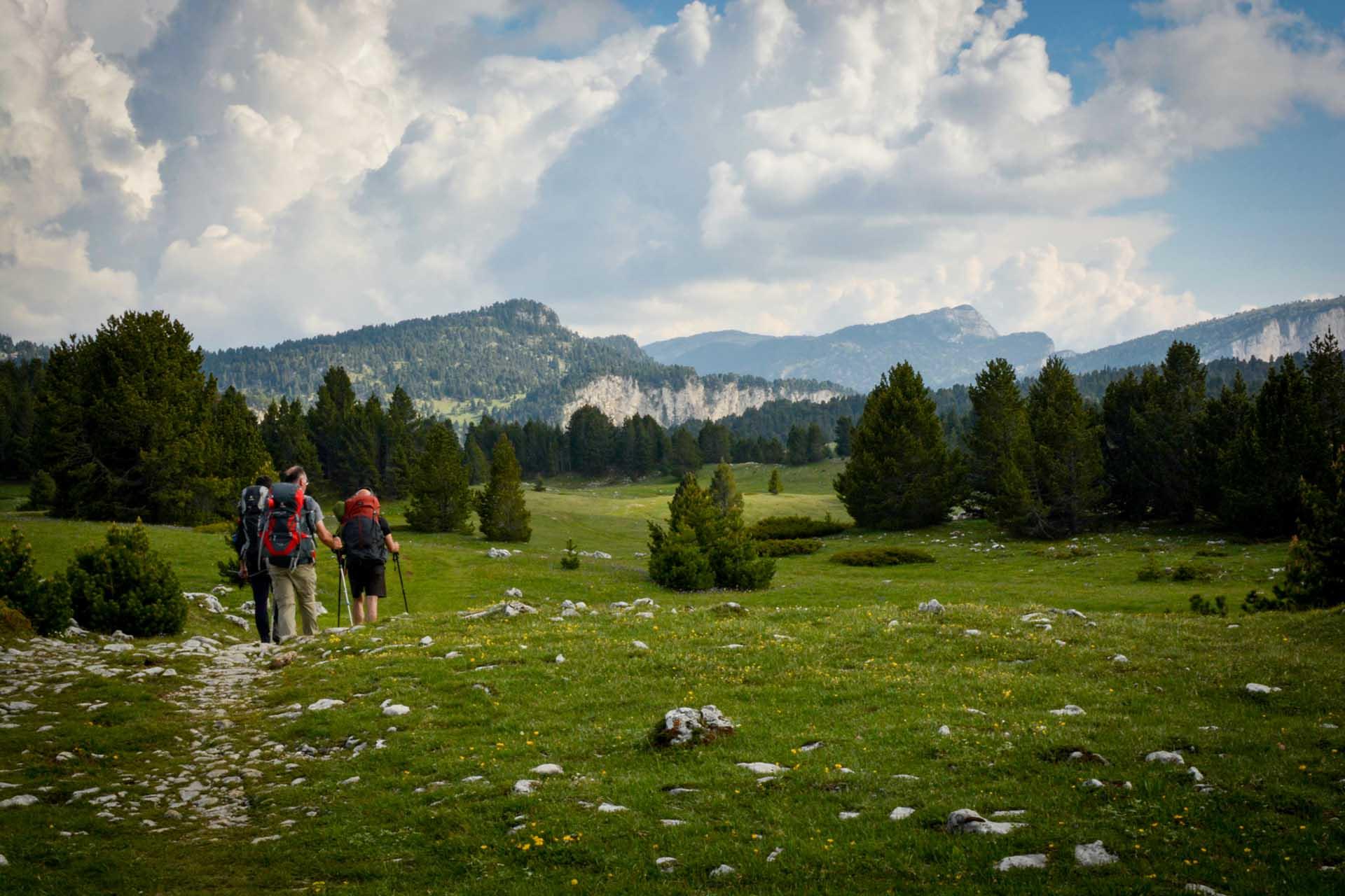 Slow Rando Sejour Liberte Decouverte Bivouac Hauts Plateaux Vercors Mont Aiguille Pre Peyret