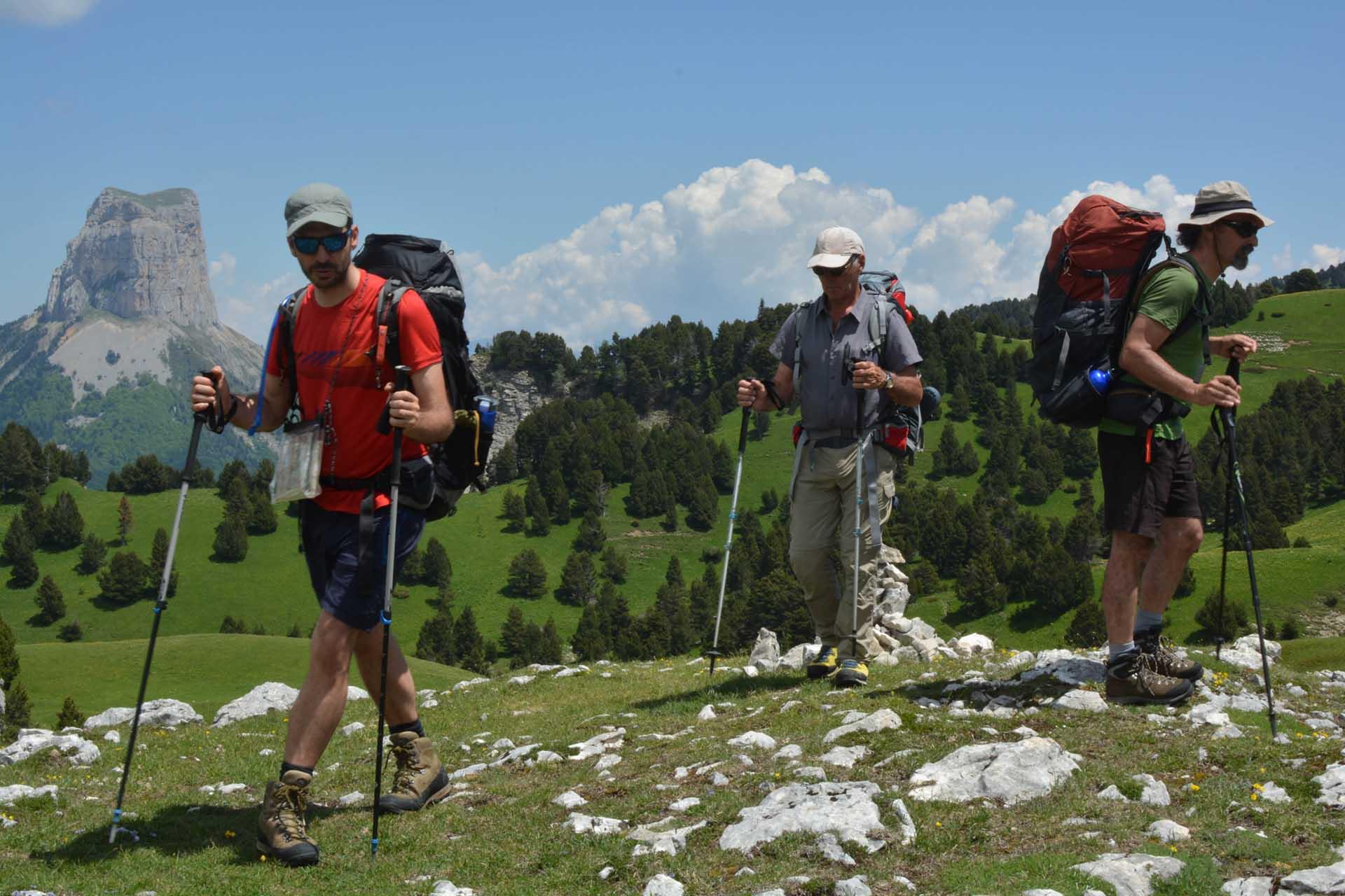 Slow Rando Sejour Liberte Decouverte Bivouac Hauts Plateaux Vercors Mont Aiguille Chaumailloux