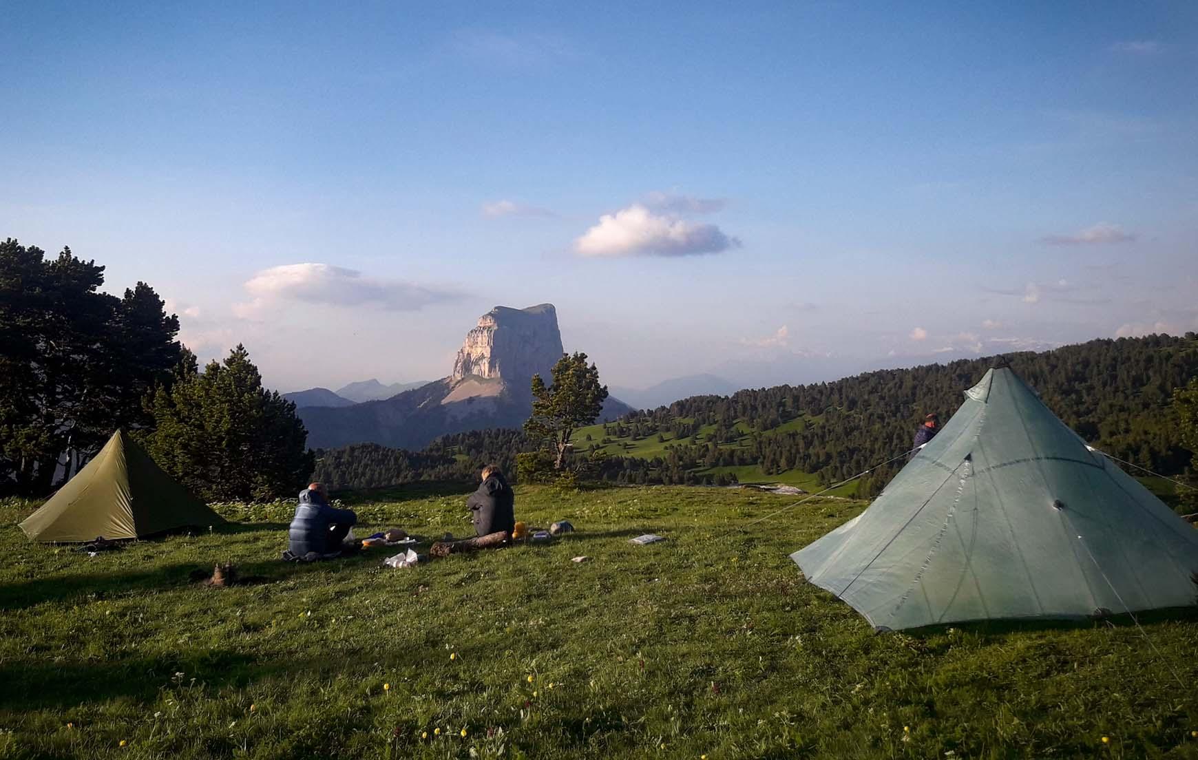 Slow Rando Sejour Liberte Decouverte Bivouac Hauts Plateaux Vercors Mont Aiguille