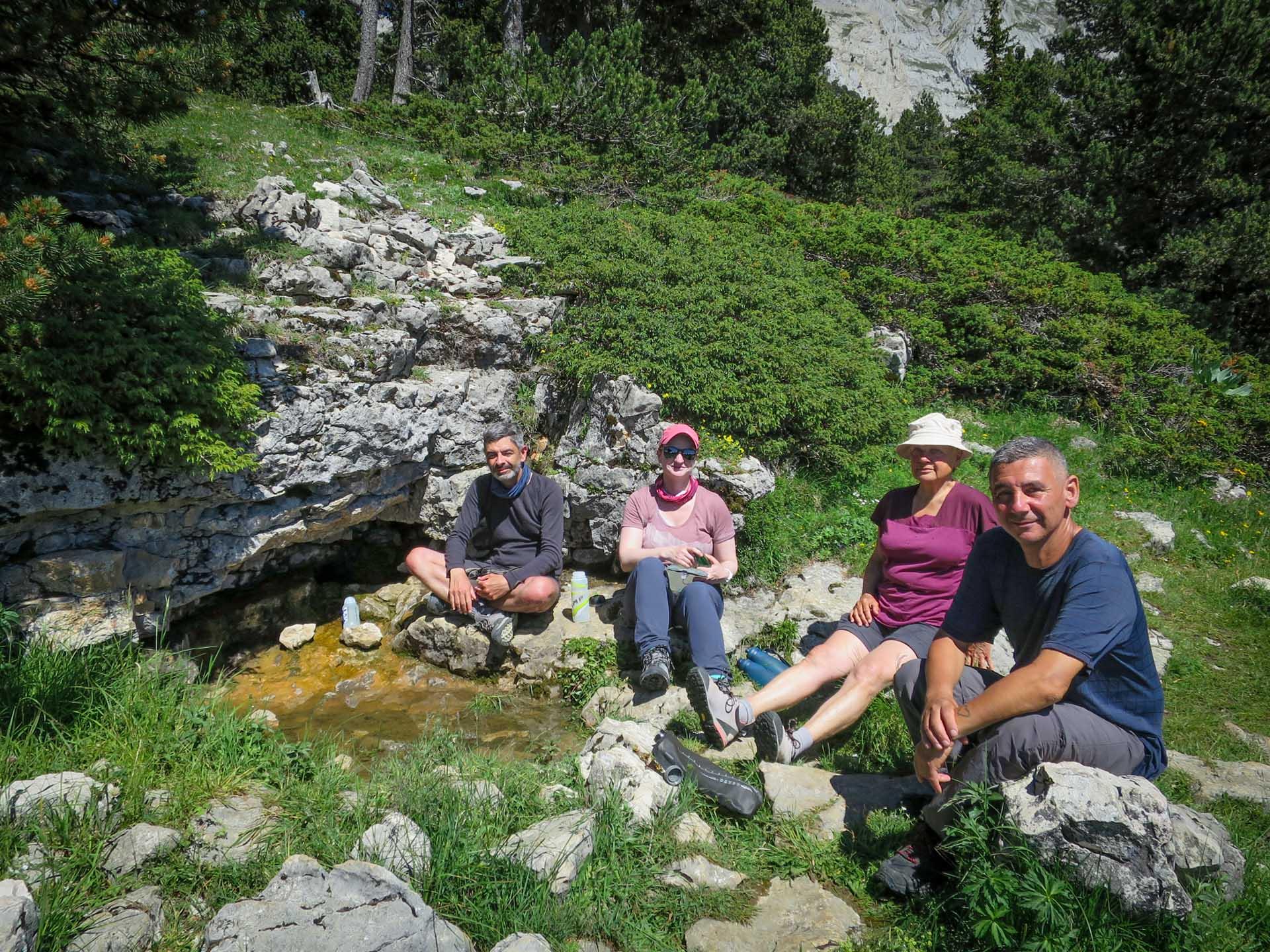 Source Ravitaillement Eau Hauts Plateaux Vercors Itinerance Sejour Trek Tente Slow Rando