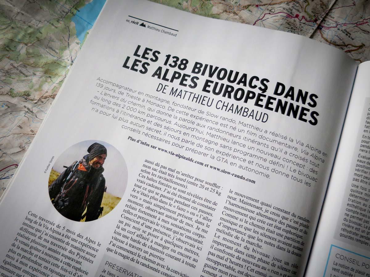 Montagnes Magazine Slow Rando Bivouac Chambaud