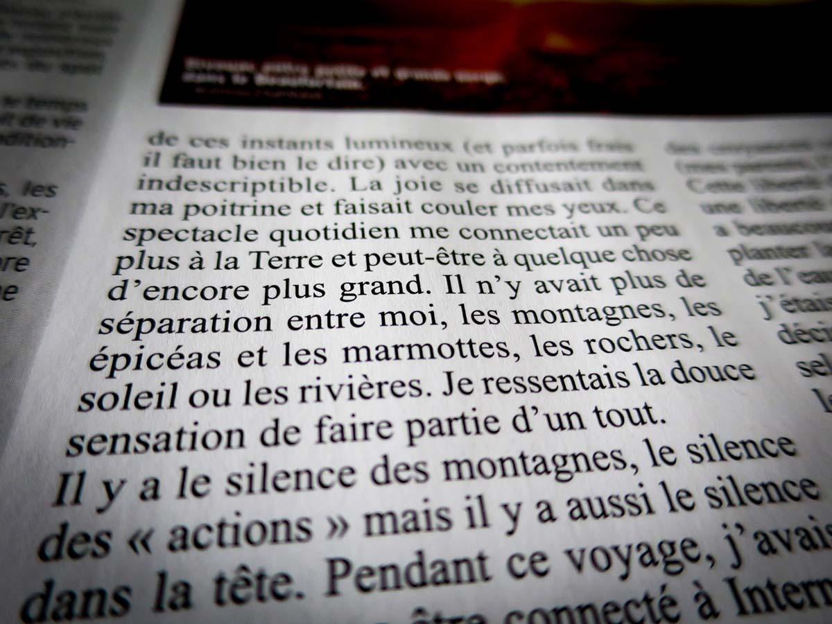 Montagnes Magazine Slow Rando Chambaud